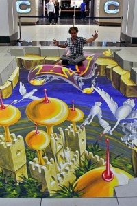 3D - Street Art - Red Star Events - USA - Shopping mall