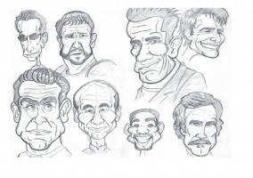 Caricatures -Red Star Event - Art Based Entertainment