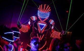 Robots - LED - Lightning Man - Red Star Events